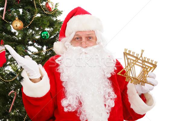 休日 サンタクロース 立って クリスマスツリー ストックフォト © lisafx