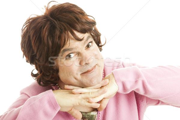 Femenino pie funny Foto mirando Foto stock © lisafx