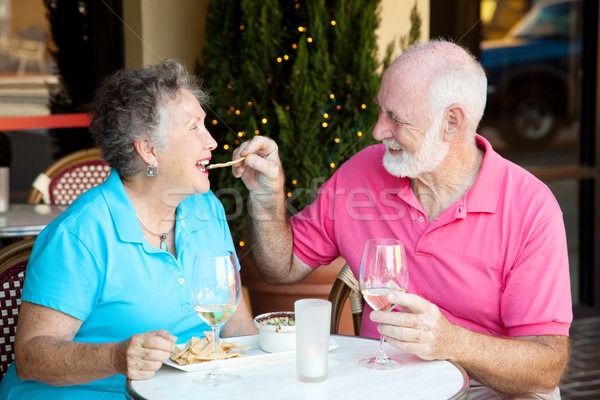 Stock Photo of Senior Couple on Date Stock photo © lisafx