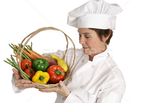 Chef Series - Inspecting Vegetables Stock photo © lisafx