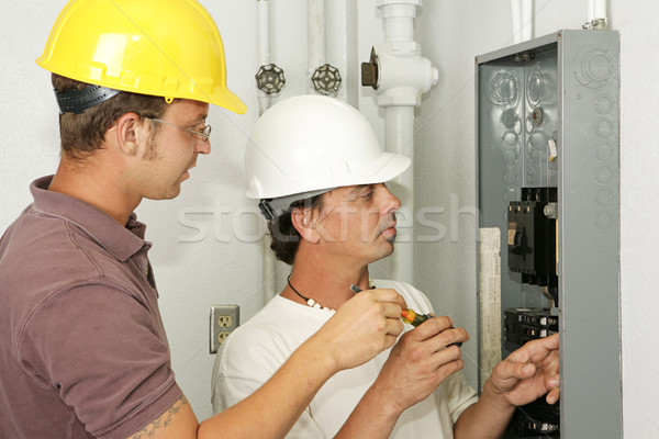 Electricians Wiring Panel Stock photo © lisafx