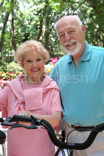 Happy Active Seniors Stock photo © lisafx