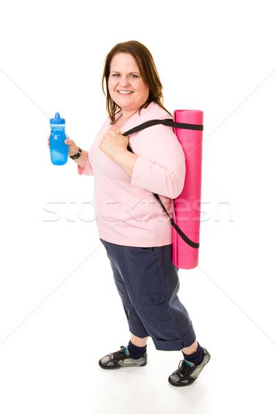 Meg fitnessz egészalakos csinos modell út Stock fotó © lisafx