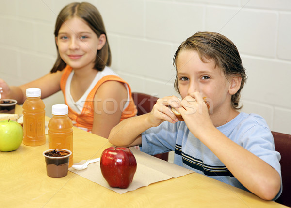 School Lunch - Together Stock photo © lisafx