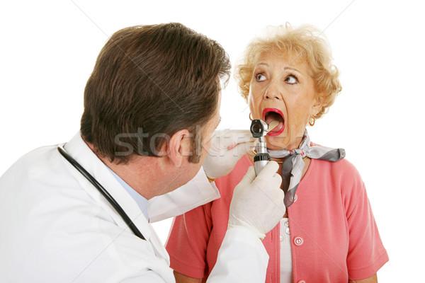 Photo stock: Supérieurs · médicaux · ouvrir · large · femme · ouverture