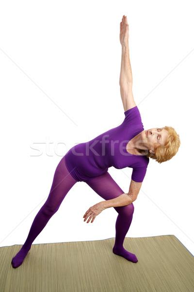 Senior Yoga - Modified Triangle Stock photo © lisafx
