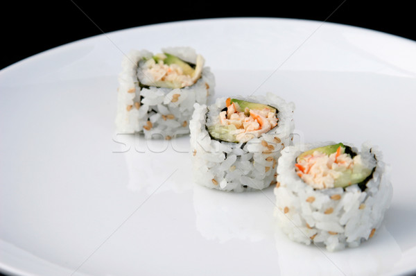 Sushi Diagonal White Stock photo © lisafx