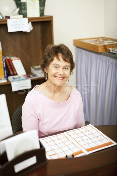 Friendly Store Clerk or Secretary Stock photo © lisafx