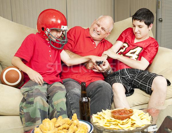 Futbol fanlar kavga uzak amerikan baba Stok fotoğraf © lisafx
