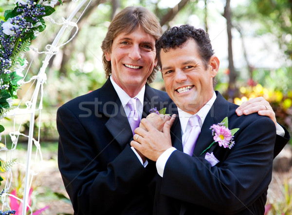 Gay Couple - Wedding Portrait Stock photo © lisafx