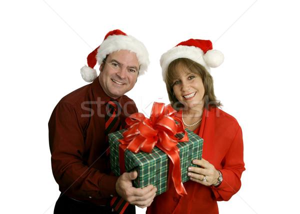 Natale Coppia cute adulto indossare Foto d'archivio © lisafx