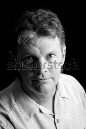 Arc depresszió középkorú férfi szenvedés klinikai Stock fotó © lisafx