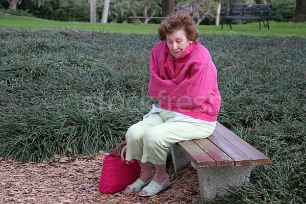 Senior Citizen Cold & Alone Stock photo © lisafx