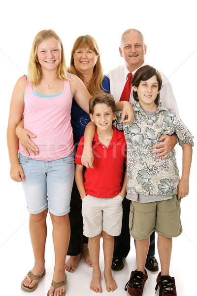 Stock photo: Typical American Family