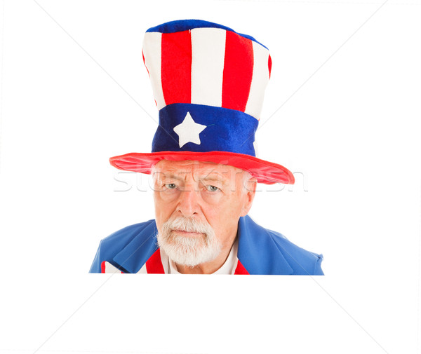 Uncle Sam Head - Unhappy Stock photo © lisafx