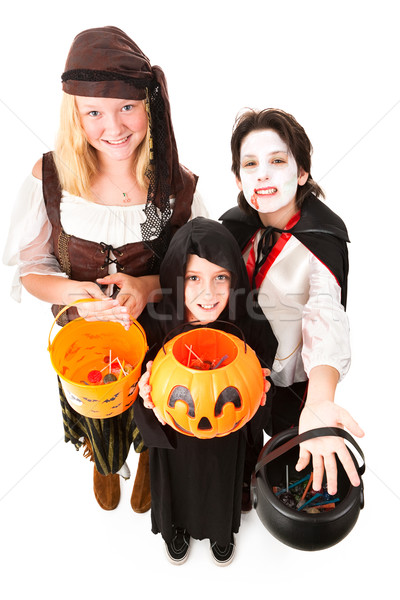 Halloween Trick Or Treaters Isolated Stock photo © lisafx