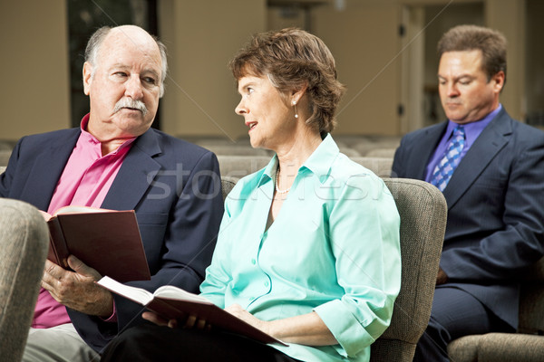 Mature Couple in Church Stock photo © lisafx