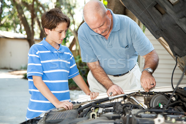 Father and Son Auto Maintenance Stock photo © lisafx