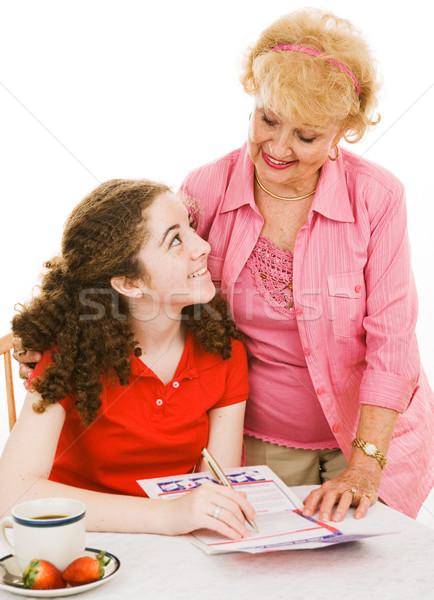 útil avó avó ajuda neta fora Foto stock © lisafx