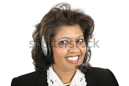 Indian Woman - Headset Stock photo © lisafx