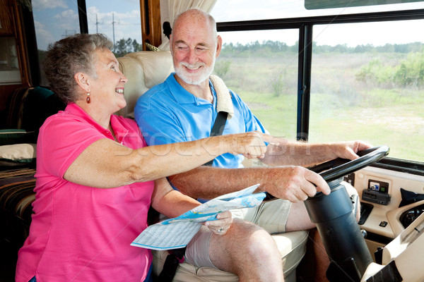 RV Seniors - Giving Directions Stock photo © lisafx