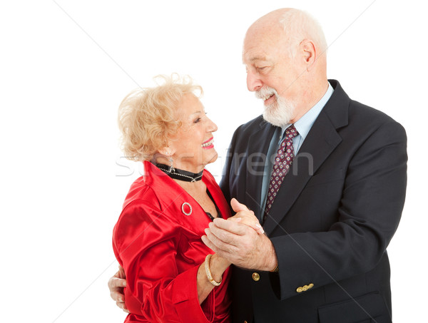 Kıdemli dans seven yaşlılar çift dışarı Stok fotoğraf © lisafx