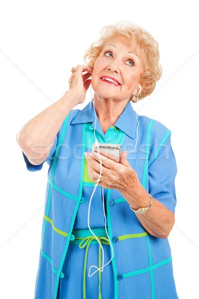 Senior Frau genießen schönen Dame spielen Stock foto © lisafx