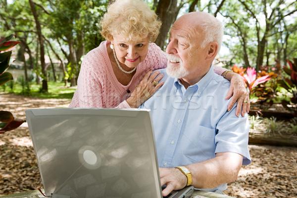 Seniors Surfing the Internet Stock photo © lisafx