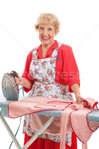 Sweet Old Lady Ironing Stock photo © lisafx