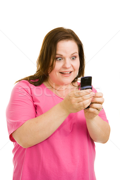 Stock photo: Amazed by Text Message