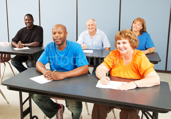 Diverse Happy Adult Education Class Stock photo © lisafx