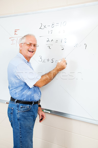 Friendly Teacher or Adult Ed Student Stock photo © lisafx