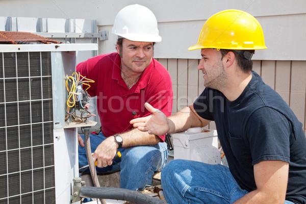 Problem klimatyzacja budowy pracy Zdjęcia stock © lisafx