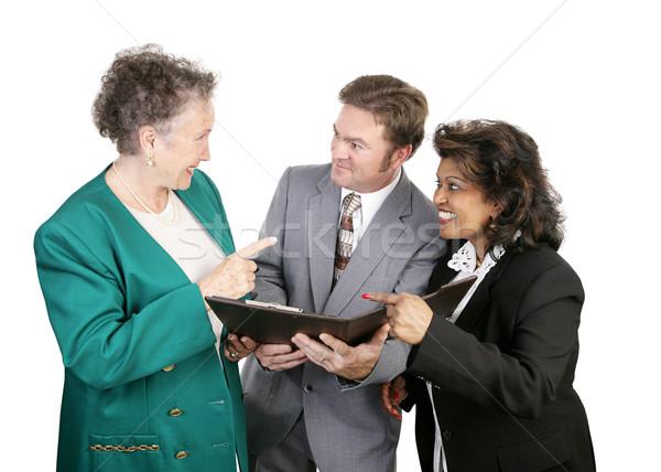 Sokoldalú üzleti csoport szép munka női üzlet Stock fotó © lisafx
