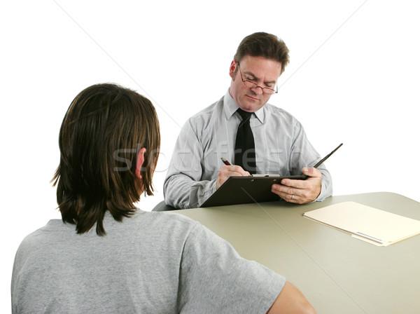 Prendere appunti teen ufficio uomo Foto d'archivio © lisafx
