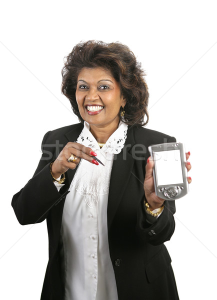 Indian imprenditrice messaggio bella pda schermo Foto d'archivio © lisafx