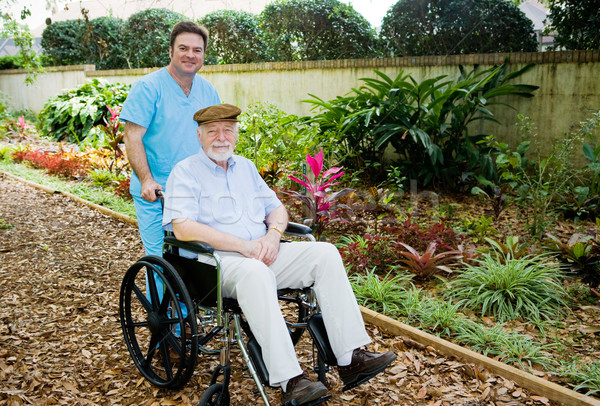 Nursing Home - Walk in the Garden Stock photo © lisafx