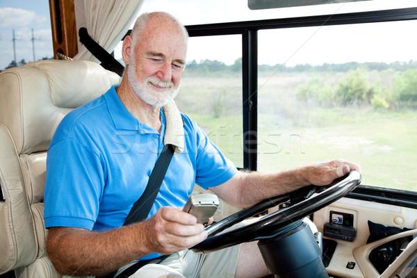 RV Senior - Navigating with GPS Stock photo © lisafx