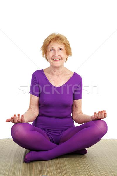 Senior Yoga - Contentment Stock photo © lisafx