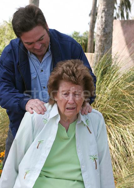 Son Comforting Mother Stock photo © lisafx
