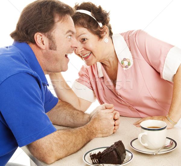 Waitress Gossips with Customer Stock photo © lisafx