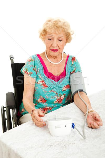Proprio sangue home senior donna Foto d'archivio © lisafx