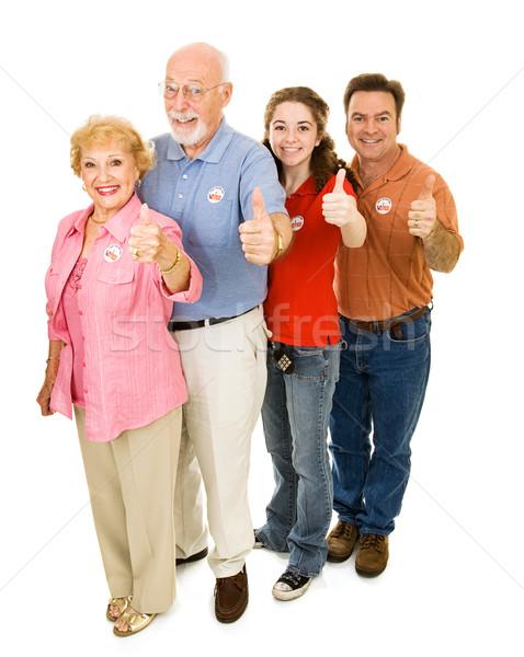 Americano isolato famiglia tutti bianco Foto d'archivio © lisafx