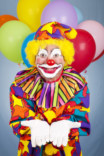 Birthday Clown Open Handed Stock photo © lisafx