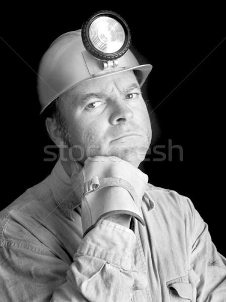 Coal Miner Portrait 2 BW Stock photo © lisafx