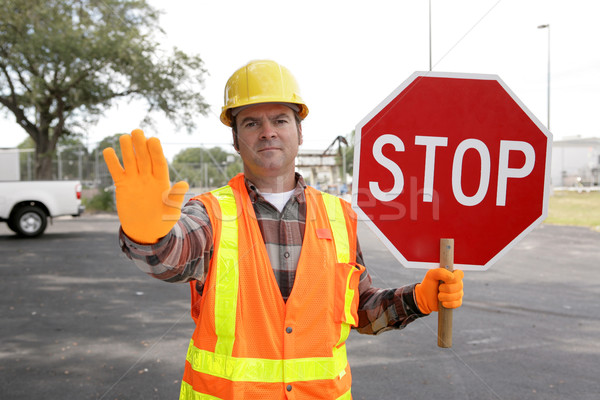 Construction Worker Stop Stock photo © lisafx