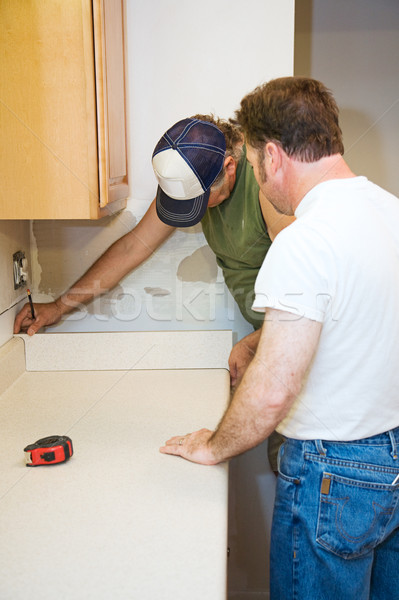 Contractors and Kitchen Counter Stock photo © lisafx
