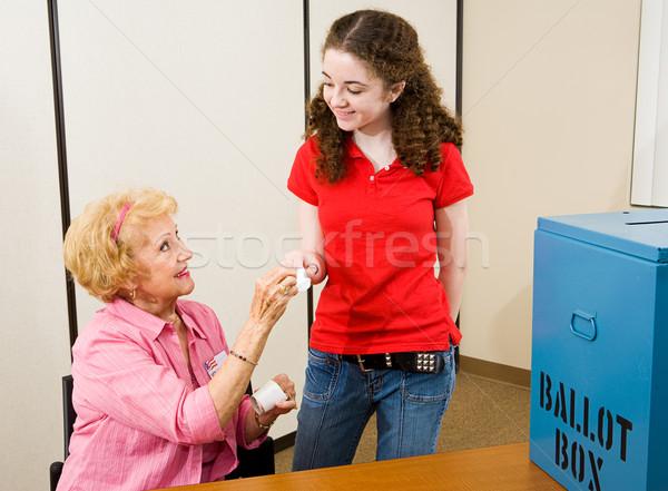 Elezioni primo tempo senior donna Foto d'archivio © lisafx
