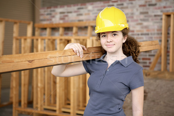 Homme construction apprenti jeunes travail Photo stock © lisafx