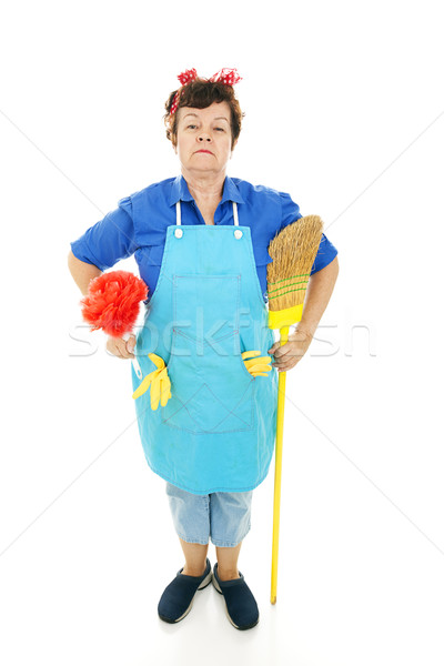 Housekeeper at Attention Stock photo © lisafx